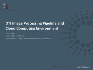 DTI  Image  P rocessing  P ipeline  and  Cloud Computing Environment