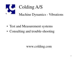 Colding A/S Machine Dynamics - Vibrations