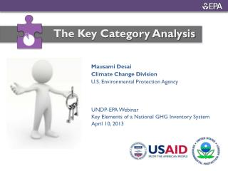 UNDP-EPA Webinar  Key Elements of a National GHG Inventory System April 10, 2013