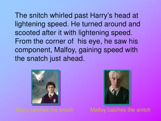 Harry catches the snitch