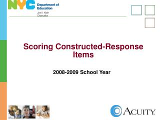 Scoring Constructed-Response Items