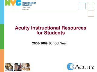 Acuity Instructional Resources  for Students