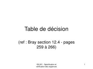Table de décision