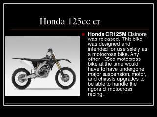 Honda 125cc cr