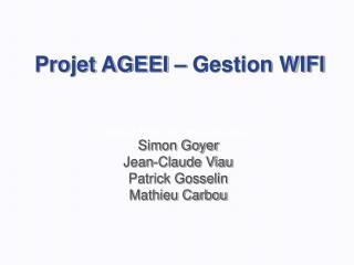 Projet AGEEI – Gestion WIFI