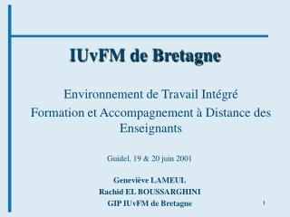 IUvFM de Bretagne