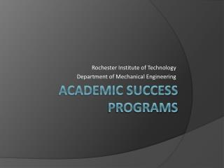 Academic SUCCESS programs