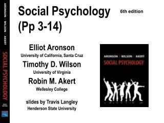Social Psychology  (Pp 3-14)