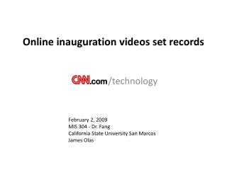 Online inauguration videos set records