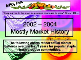 2002 – 2004  Mostly Market History
