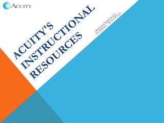 Acuity's Instructional Resources