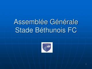 Assemblée Générale Stade Béthunois FC