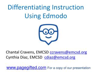 Differentiating Instruction  Using Edmodo