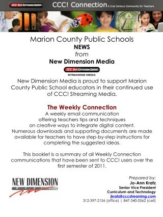 Marion County Public Schools NEWS  from  New Dimension Media