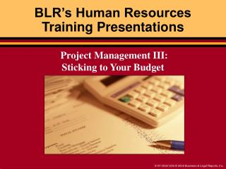 BLR�s Human Resources  Training Presentations