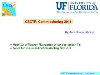 CSCTF: Commissioning 2011