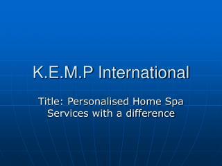 K.E.M.P International