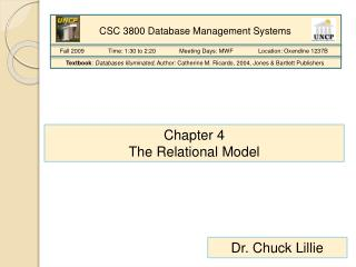 Chapter 4 The Relational Model