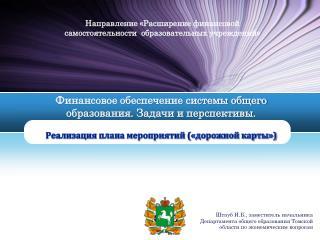 Направление «Расширение финансовой  самостоятельности  образовательных учреждений»