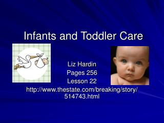Infants and Toddler Care