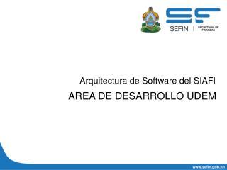 Arquitectura de Software del SIAFI