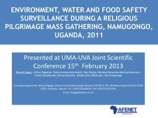 Presented at UMA-UVA Joint Scientific Conference 15 th   February 2013