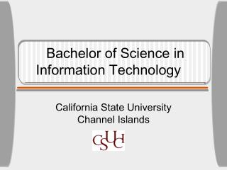 Bachelor of Science in  Information Technology
