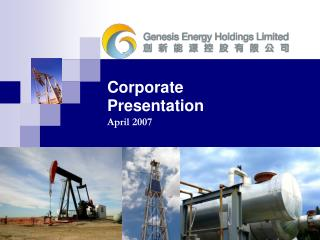 Corporate Presentation April 2007