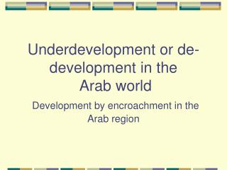 De-development