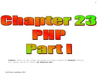 Chapter 23 PHP Part I