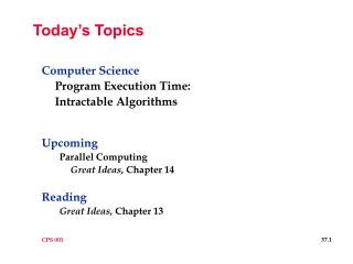 Today�s Topics