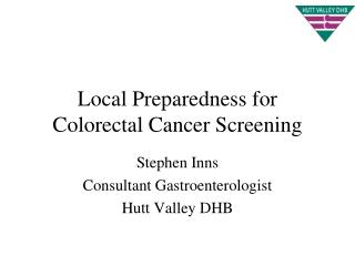 Local Preparedness for Colorectal Cancer Screening