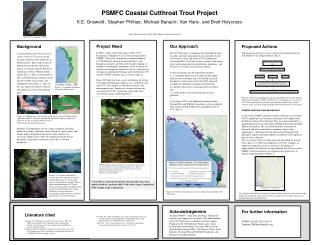 Background Coastal cutthroat trout ( Oncorhynchus  clarkii clarkii ) (CCT) are one of the