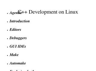 C++ Development on Linux