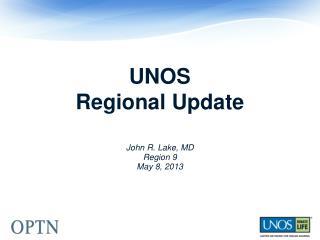 UNOS  Regional Update