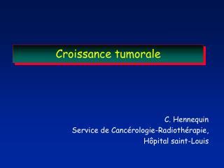 Croissance tumorale