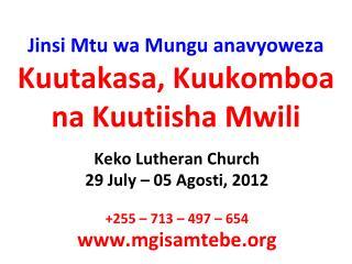 Jinsi Mtu wa Mungu anavyoweza Kuutakasa, Kuukomboa na Kuutiisha Mwili