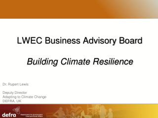 LWEC Business Advisory Board Building Climate Resilience