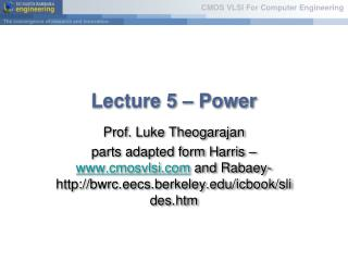 Lecture 5   Power