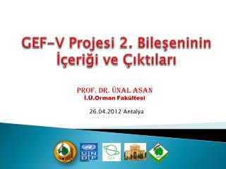 GEF-V Projesi  2 . Bileşeninin İçeriği ve Çıktıları