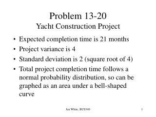 Problem 13-20 Yacht Construction Project