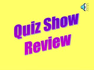 Quiz Show  Review