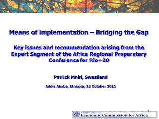 Patrick Mnisi, Swaziland Addis Ababa, Ethiopia, 25 October 2011