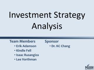 Investment Strategy Analysis