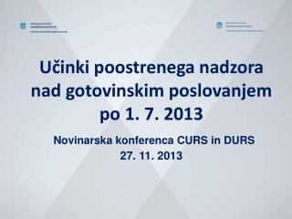 Učinki davčnega nadzora v 2013