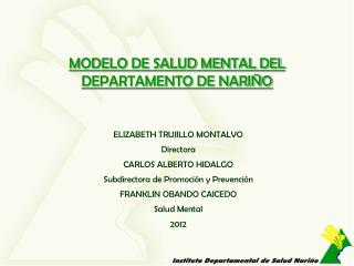 MODELO DE SALUD MENTAL DEL DEPARTAMENTO DE NARIÑO
