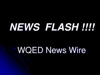 NEWS  FLASH !!!! WQED News Wire