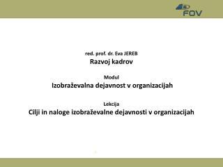 Izobraževalna dejavnost v organizacijah
