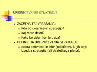 URESNI ČEVANJE STRATEGIJE