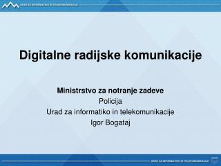 Digitalne radijske komunikacije